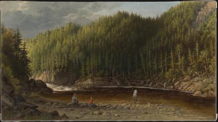 Fosse à saumons sur la rivière Godbout