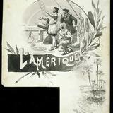 « L'Amérique ». Illustration (vignette) pour La Légende d'un peuple, poème épique de Louis Fréchette