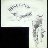 « Notre Histoire ». Illustration (vignette) pour La Légende d'un peuple, poème épique de Louis Fréchette