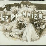 « Le Pionnier ». Illustration (vignette) pour La Légende d'un peuple, poème épique de Louis Fréchette