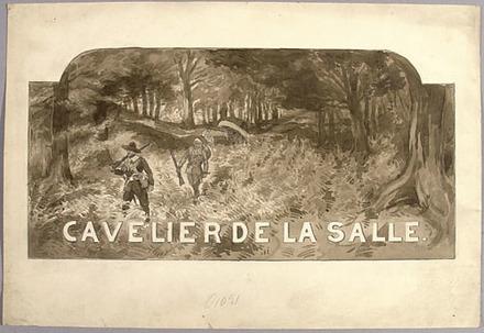 « Cavelier de la Salle ». Illustration (vignette) pour La Légende d'un peuple, poème épique de Louis Fréchette