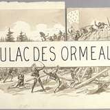 « Daulac des Ormeaux ». Illustration (vignette) pour La Légende d'un peuple, poème épique de Louis Fréchette
