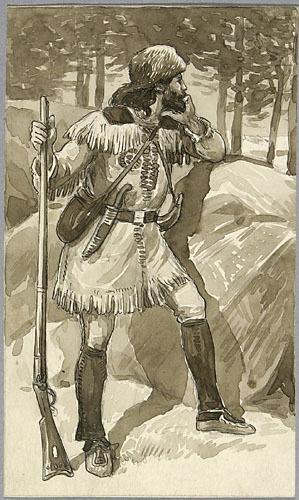 « Cadieux ». Illustration (vignette) pour La Légende d'un peuple, poème épique de Louis Fréchette