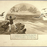 « Apparition ». Illustration (vignette) pour La Légende d'un peuple, poème épique de Louis Fréchette