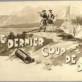 « Le Dernier coup de dé ». Illustration (vignette) pour La Légende d'un peuple, poème épique de Louis Fréchette