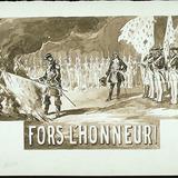 « Fors l'honneur ». Illustration (vignette) pour La Légende d'un peuple, poème épique de Louis Fréchette