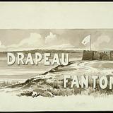« Le Drapeau fantôme ». Illustration (vignette) pour La Légende d'un peuple, poème épique de Louis Fréchette