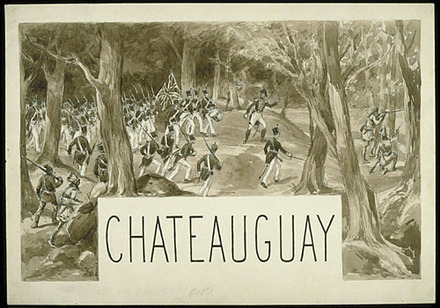 « Châteauguay ». Illustration (vignette) pour La Légende d'un peuple, poème épique de Louis Fréchette