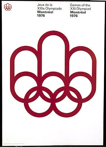 Affiche « Jeux de la XXIe olympiade, Montréal 1976 » (l'emblème)