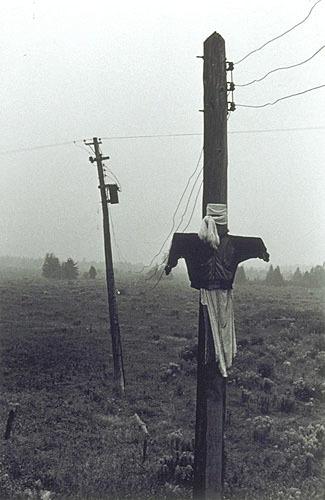 Épouvantail, derrière la maison des Bouffard, de la série «Disraeli, une expérience humaine en photographie»