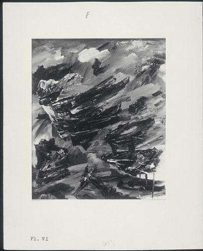 « Avalanche aux Escoumins » de Fernand Leduc, de la maquette du manifeste « Refus global »