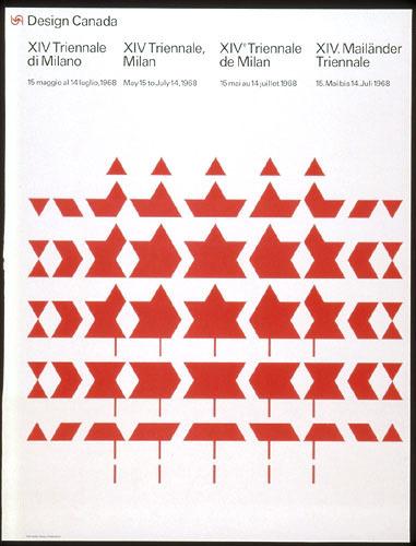 Affiche « Design Canada. XIVe Triennale de Milan »