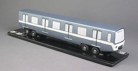Maquette du wagon du Métro de Montréal