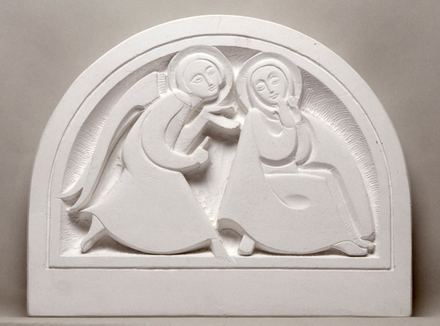 L'Annonciation. Maquette pour un relief de la chapelle Notre-Dame-de-Lourdes, Lac-Bouchette