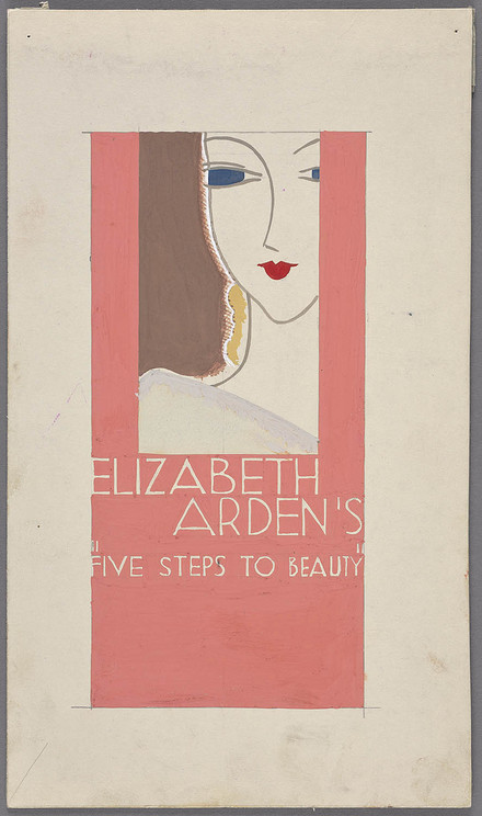 « Elizabeth Arden's Five Steps to Beauty », proposition pour une décoration de vitrine