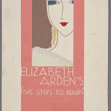 « Elizabeth Arden's Five Steps to Beauty », proposition pour une décoration de vitrine