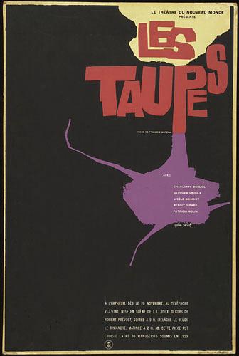 Affiche « Les Taupes »