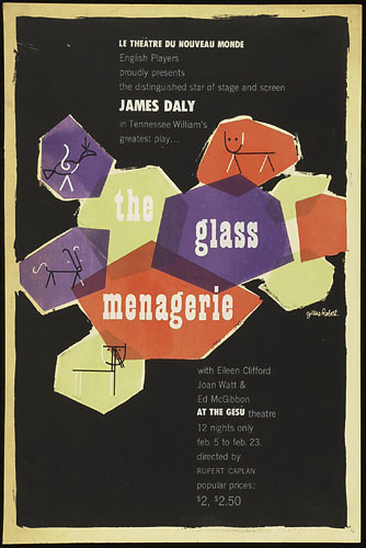 Affiche « The Glass Menagerie »