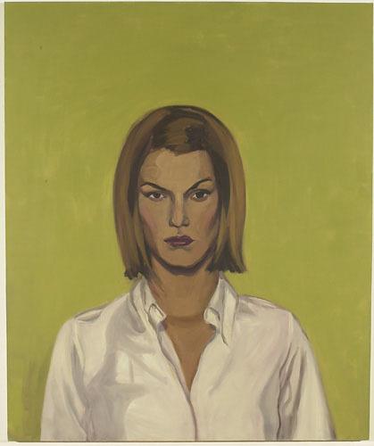 Jeune femme à la chemise blanche (RR citron vert)
