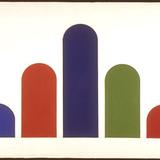 Cinq Arches disposées en triangle (version couleur)