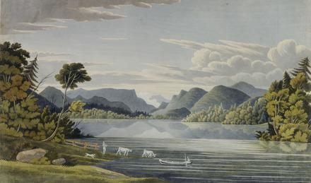Vue de la partie inférieure du lac Saint-Charles