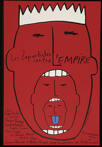 Affiche « Les Zapartistes contre l'Empire »