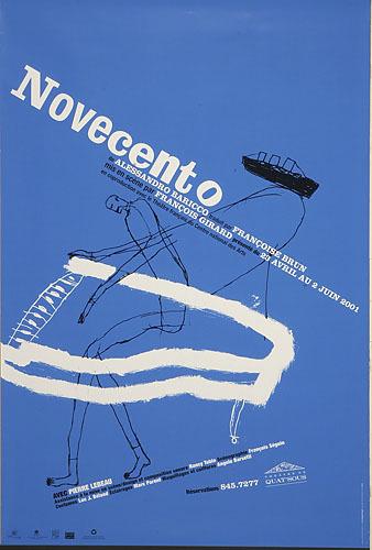 Affiche « Novecento »