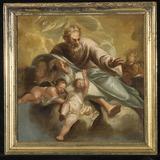 Le Père éternel entouré d'anges