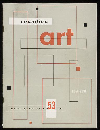 Couverture de la revue « Canadian Art »