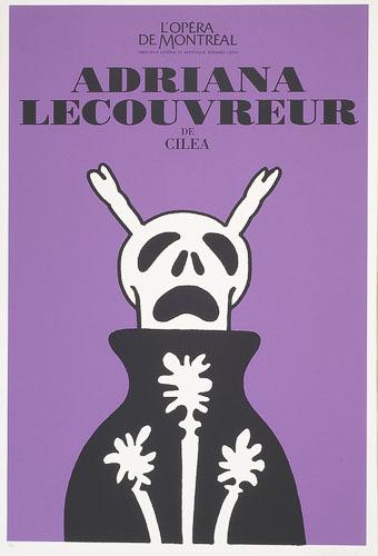 Affiche «Adriana LeCouvreur de Francesco Cilea», de l'album L'Opéra par Vittorio