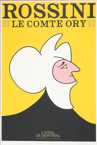 Affiche «Le Comte Ory de Gioacchino Rossini», de l'album L'Opéra par Vittorio