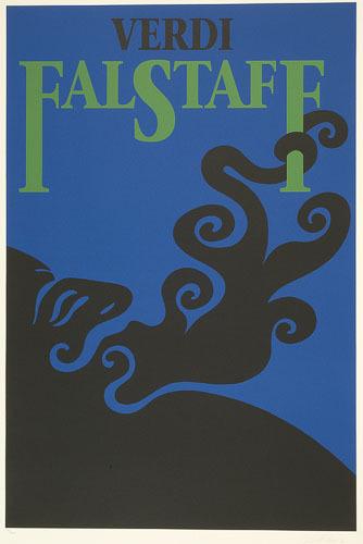 Affiche «Verdi : Falstaff», de l'album L'Opéra par Vittorio