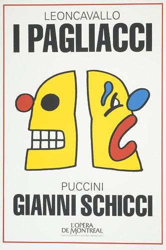 Affiche «I Pagliacci de Ruggero Leoncavallo et Gianni Schicci de Giacomo Puccini», de l'album L'Opéra par Vittorio