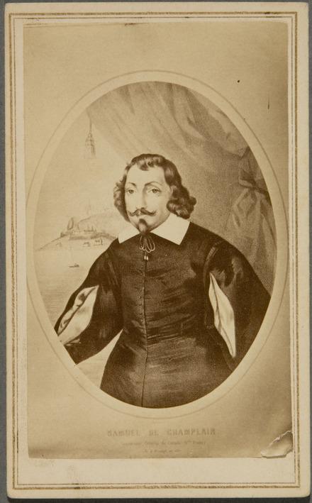 Samuel de Champlain. Photographie d'une gravure de Louis-César-Joseph Ducornet