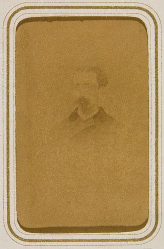 Portrait d'homme, de l'album Maîtres d'écoles de la province de Québec et hommes politiques de P.-J.-O. Chauveau