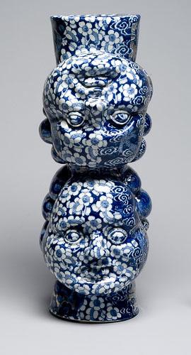 Vase à fleurs (double tête de Matisse)