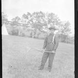 « Indien moderne » avec une crosse sur les plaines d'Abraham, tricentenaire de Québec