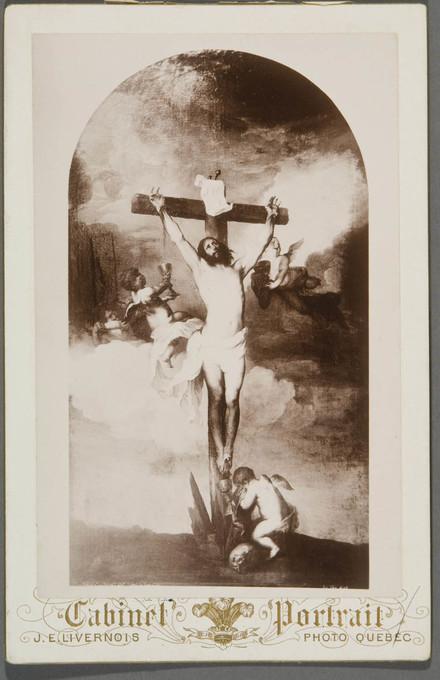 Christ en croix avec des anges. Photographie d'un tableau d'après Antoon Van Dyck