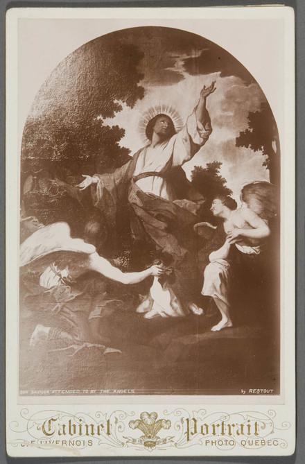 Le Christ servi par les anges. Photographie d'un tableau attribué à Jean Restout
