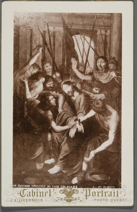 Le Christ outragé par les soldats. Photographie d'un tableau d'après Grégoire Huret