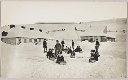 Descente en toboggan à la Citadelle de Québec