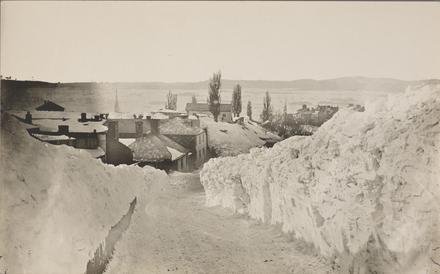 La Côte de la Citadelle et la caserne Connaught en hiver, Québec