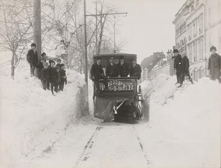 Tramway chasse-neige, rue D'Auteuil, Québec
