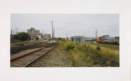 Rails, Halifax, Nouvelle-Écosse, de la série Paysages étalonnés