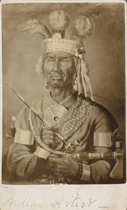 Zacharie Vincent Telariolin. Photographie d'un tableau, de l'album de collection, dit de Napoléon Garneau