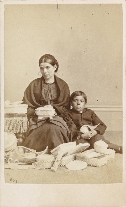 Margaret Tahamont et son fils, Lazarus, de l'album de collection dit de Napoléon Garneau