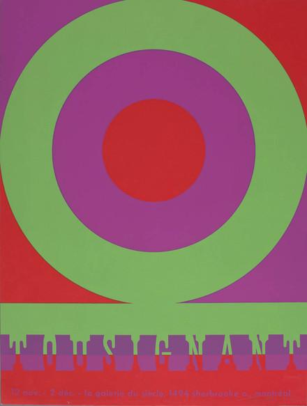 Affiche de l'exposition « Claude Tousignant », Galerie du Siècle, Montréal