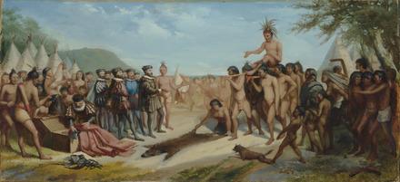 Esquisse pour « La Visite de Jacques Cartier à Hochelaga »