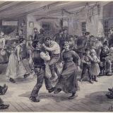 « Le Rigodon chez Batissette Augé ». Illustration pour La Chasse-galerie, conte d'Honoré Beaugrand