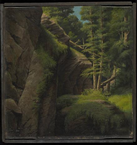 Rochers au ruisseau Papineau du domaine de Montebello